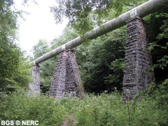Aqueduct, Harptree Combe, part of Bristol Water's 'Line of Works'.