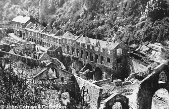 The Fussell's Lower Works, Mells, in ruins, sometime in the early 1900's.