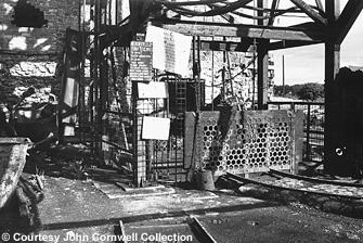 The pit head at the Mendip colliery, 22 August 1962, click to view larger.