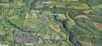 Aerial view of Shipham and Rowberrow (click to enlarge view)