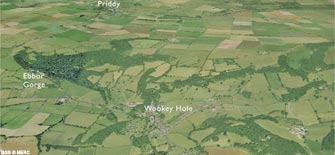 Aerial view of the Wookey area (click to enlarge view).