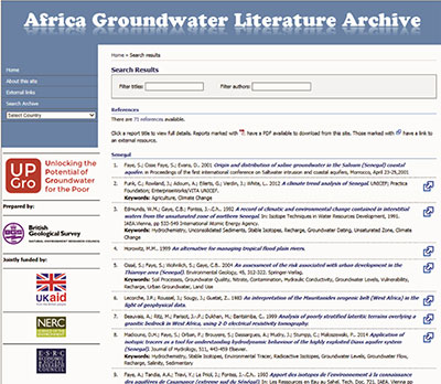 Africa Groundwater Literature Archive