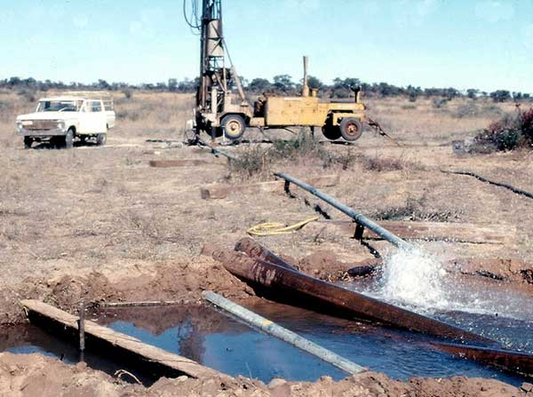 Borehole drilling in Botswana