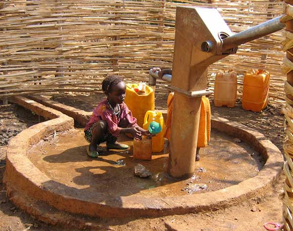 Water pump in Africa