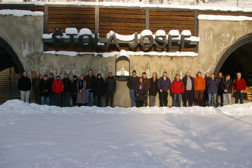 Attendees of the  FORGE 2nd General Assembly at the portal of the Josef UEF, © CTU in Prague