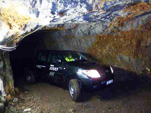 Pickup truck in the Josef UEF: the main transport in the mine