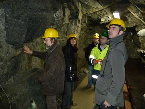 FORGE scientists deep inside the  Josef UEF, 90 metres below ground level