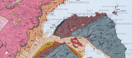 Republic Of Ireland And Northern Ireland Map.Welcome To The Geological Survey Of Northern Ireland