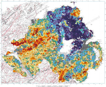 Map Of Ireland With Mountains.Gold Mining In Ireland And The Uk How Much Gold Is There In