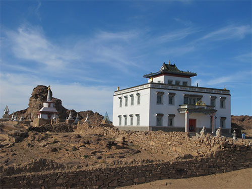 Buddhist monastery on the Khan Bogd pluton