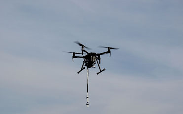 Drone–based magnetic surveying.