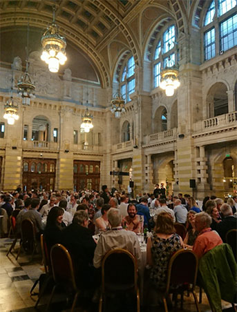 Conference dinner in the Kelvingrove Gallery.