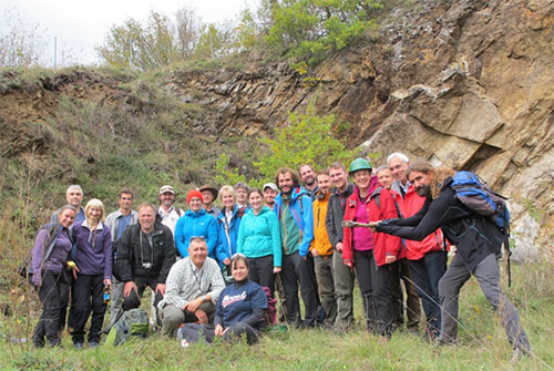 The HiTech AlkCarb team at the Orberg carbonatite quarry.