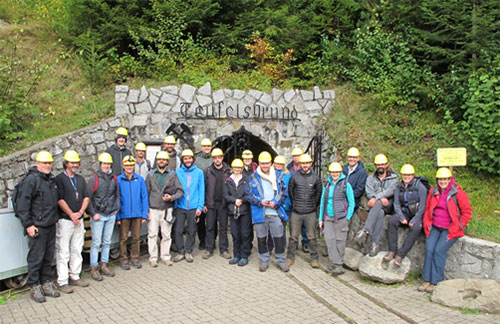 The HiTech AlkCarb team at the Teufelsgrund mine.