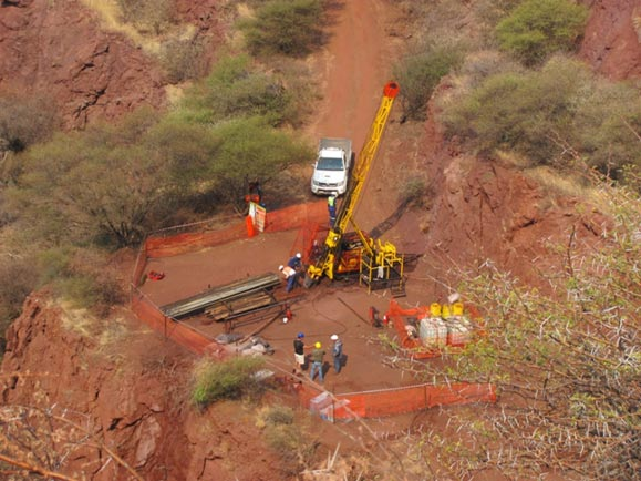 Drilling at Glenover, South Africa © Pete Siegfried