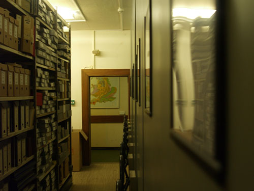 Our valuable and extensive map collection is held in a strongroom, with a stand-alone fire suppression system including fireproof doors and walls.