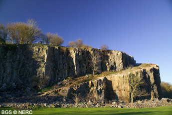 Disused quarry in Burrington Oolite, near Cheddar