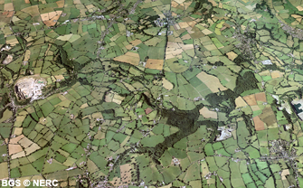 Aerial view of the Nettlebridge valley (click to enlarge view).