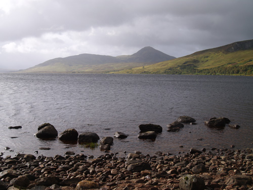 Loch Loyal from the base of Beinn Stumanadh, northwest Scotland