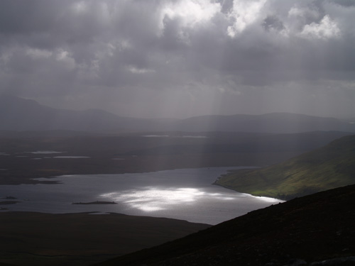 Loch Loyal from the summit of Beinn, Stumanadh, northwest Scotland