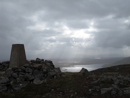 Summit of Beinn Stumanadh, northwest Scotland