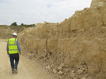 Building stone quarry in the Lincolnshire Limestone Formation, BGS©NERC