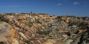 Parys Mountain, Anglesey, BGS©NERC. Click to enlarge.