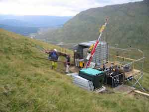 Exploration drilling at Scotgold's Cononish project near Tyndrum in the Grampian Highlands of central Scotland,© Scotgold Resources Ltd