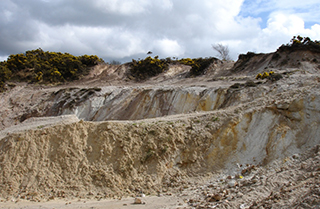 Part of the Hemerdon open–pit containing  tin–tungsten veins,BGS©NERC