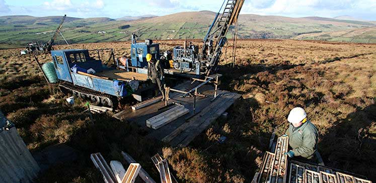 Exploration drilling at the Curraghinalt gold deposit in Country Tyrone, Northern Ireland, © P McDonnell