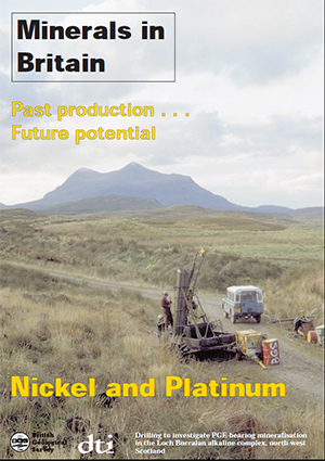 Minerals in Britain: Nickel and Platinum, BGS©NERC