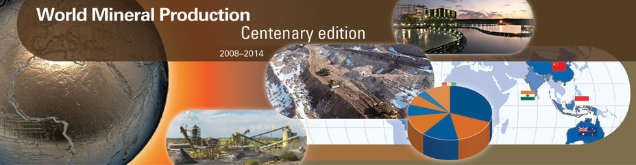 World Mineral Production 2008-2012 Centenary Edition