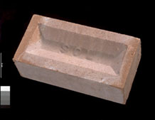 Brick made from spent shale, BGS©NERC
