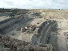 Surface coal mining, BGS©NERC