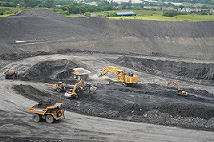 UK open cast coal extraction, BGS&copyNERC