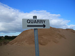 UK sand and gravel quarry, BGS&copyNERC