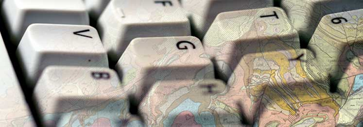 Keyboard with geological map, BGS©NERC