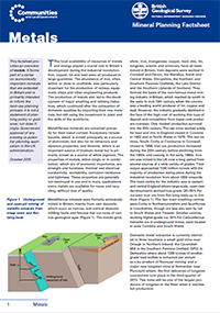 Mineral Planning Factsheet: Metals. BGS©NERC