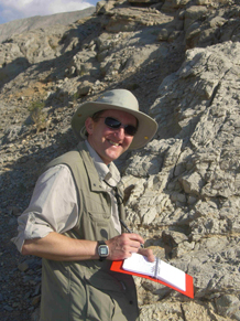 Clive Mitchell assessing limestone resource, BGS©NERC