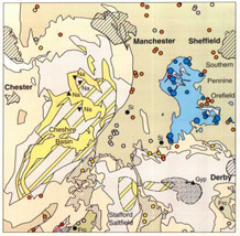 Industrial Minerals Map of Britain, BGS©NERC
