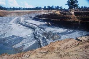 Glebe Fuller's Earth Quarry near Redhill, Surrey, BGS©NERC