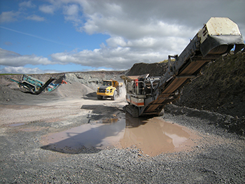 Roan Edge quarry, Cumbria, operated by Cemex UK Materials Ltd, BGS©NERC