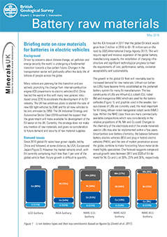 Download Briefing Note- Battery raw materials. BGS©NERC