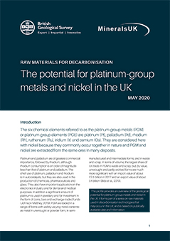 Download The potential for platinum-group metals and nickel in the UK