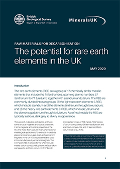 Download The potential for rare earth elements in the UK