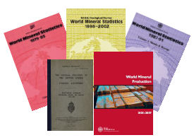 A selection of World mineral statistics publications, BGS©NERC