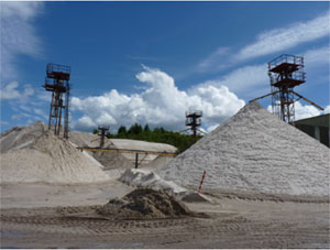 Burrowine Moor silica sand quarry, Fife, Operated by Pattersons quarries Ltd. BGS©NERC