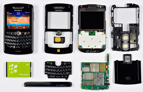 Elements of a mobile phone BGS©NERC