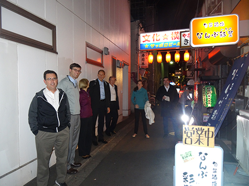 EU and USA team exploring Japanese culture in Sendai. Copyright Frances Wall.