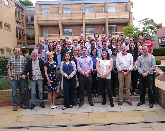 The full SoS Minerals programme group at the meeting in Leicester. Copyright Dan Smith.